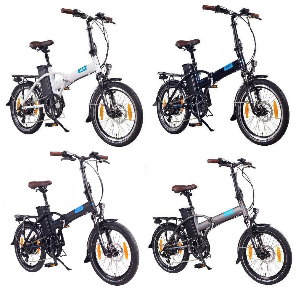 NCM London 20 E-Bike, E-Faltrad, 36V 15Ah 540Wh Akku, blau, weiß, anthrazit