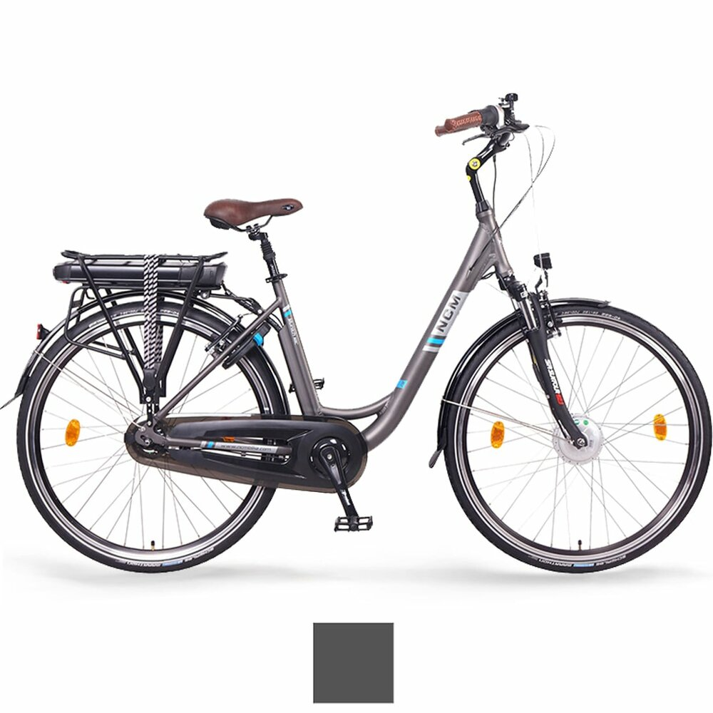 NCM Munich N8C 28 City E-Bike, mit Rücktrittbremse, anthrazit